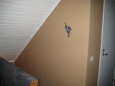 En liten drake hittade upp på trappväggen.