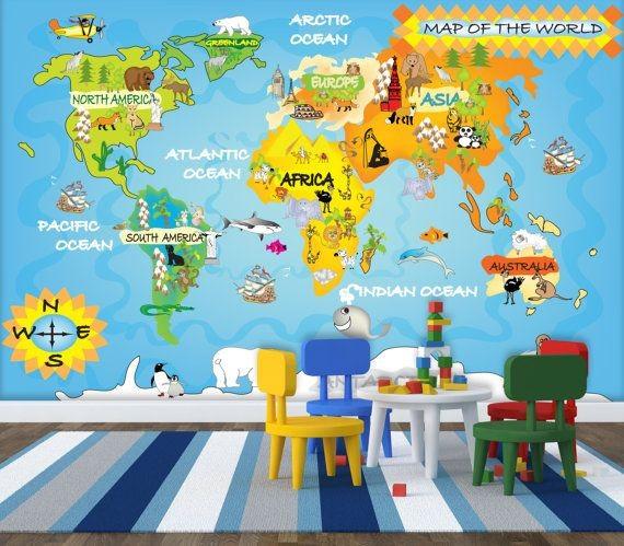 barntapet världskarta