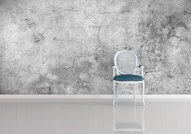 snygg betongtapet grå fototapet fondtapet