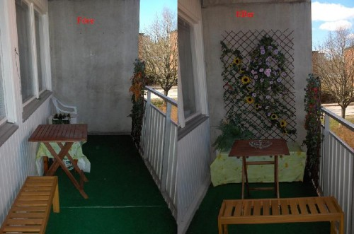 Balkongen före och efter