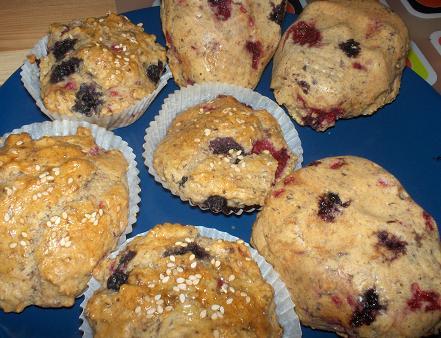 hälsosamma frukosmuffins