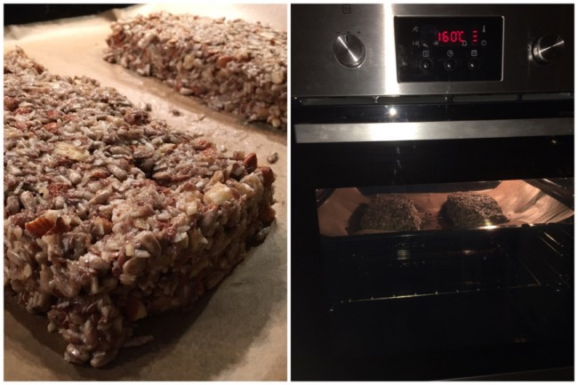 Stenåldersbröd - forma bröden på plåt sedan in i ugn 160 grader i 60 minuter