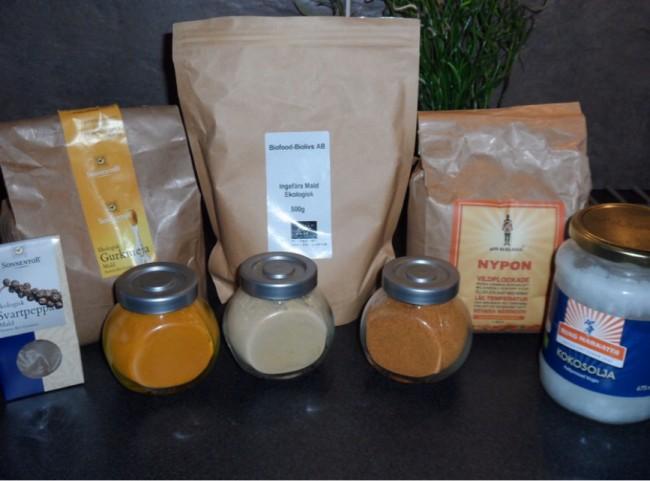 Ekologiska örter, kryddor och nypon mm från Grön gåva.