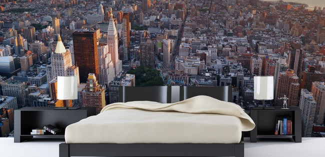 New York tapet sovrum Skyline