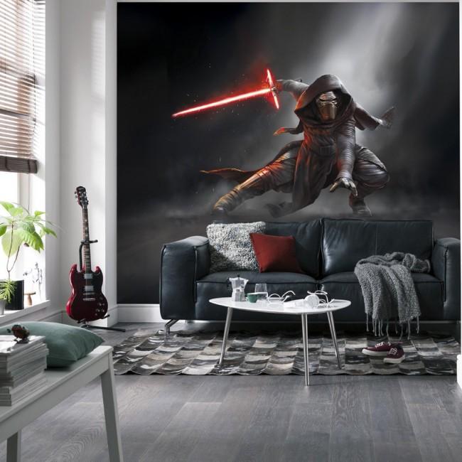 star wars tapet kylo ren lasersvärd light saber fototapet ungdomstapet barntapet