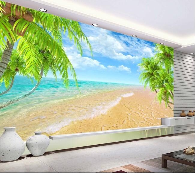 strand tapet hav fototapet tropisk fondtapet