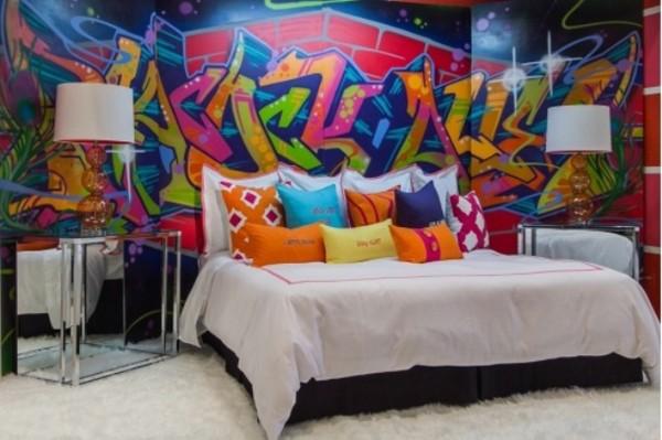 graffiti tapet sovrum ungdomstapet fototapet