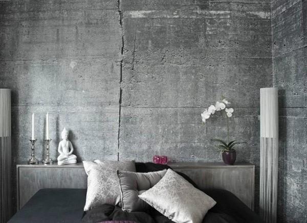 Fototapet Betongvägg Tapet Betong betongtapeter spricka sovrumstapet