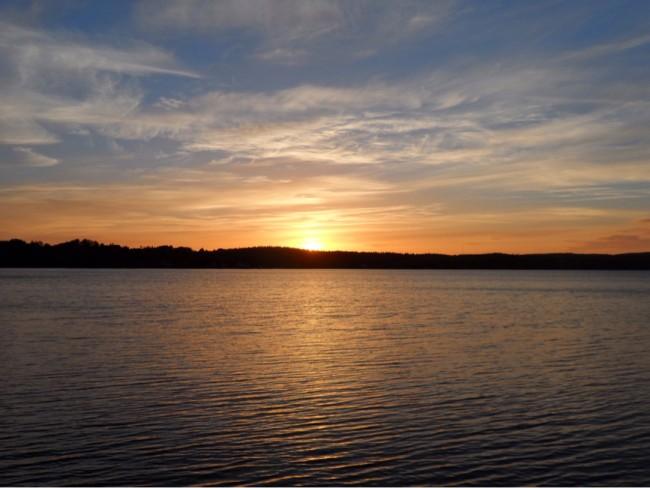 Solnedgång 3 juli 2014 Degernäs Degerfors