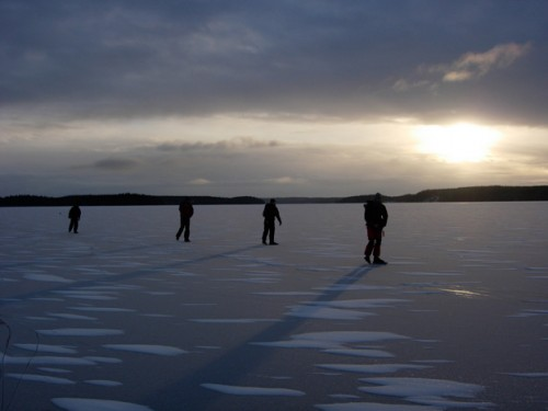 Skridskor på Sigtunafjärden