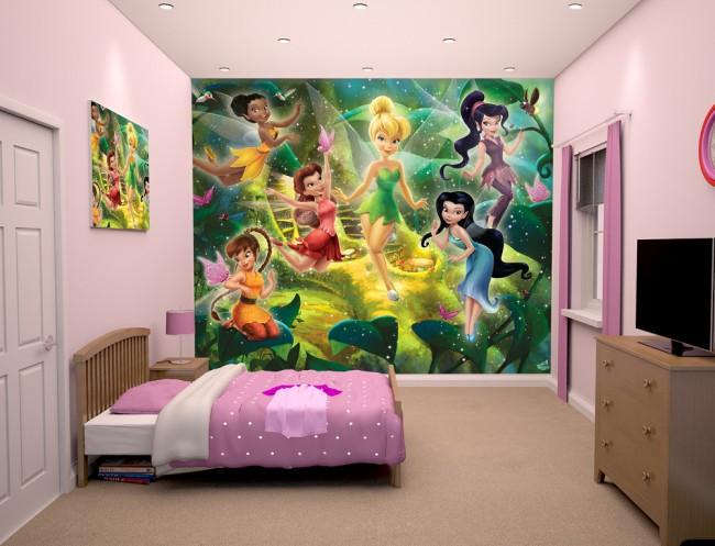 Disney tapet tingeling älvor fototapet tjejrum