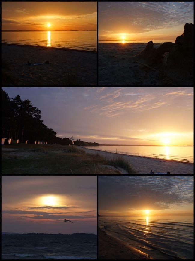 Soluppgångar vid Åhus strand