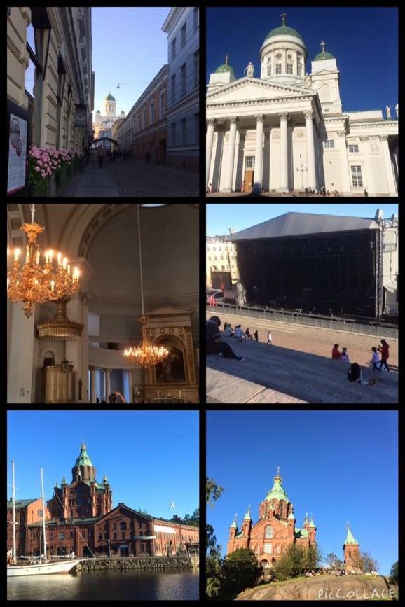 Helsingfors Domkyrka och Uspenskijkatedralen i Finland