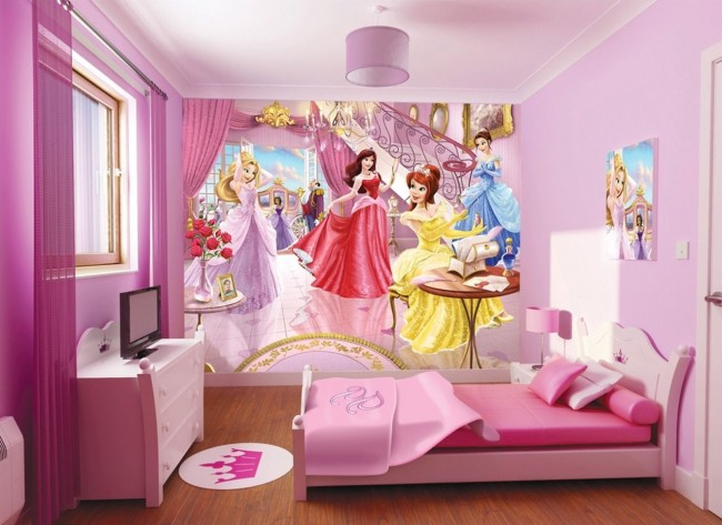 Disney tapet prinsessor tjejtapet fototapet barnrum