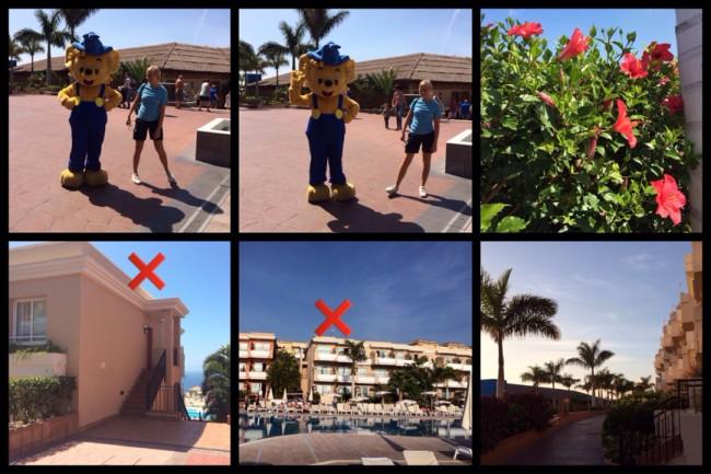 Bamse :) Röda krysset visar var vi bodde Costa Los Gigantes