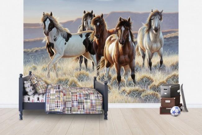 ungdomstapet hästar tapet ungdomsrum tjejtapet tjejrum