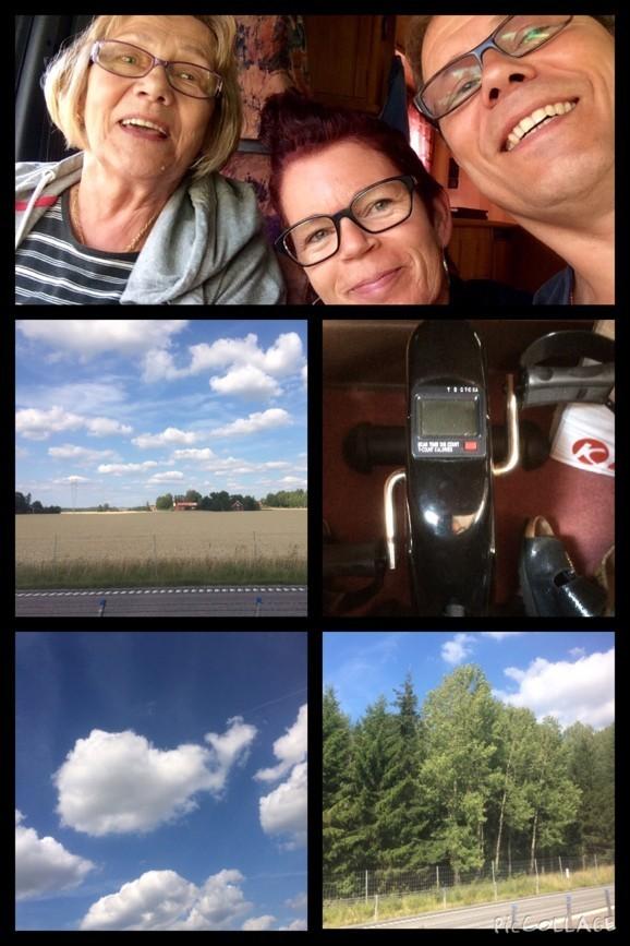 Genom Sverige mot Finland Mummu, jag och Finska Cowboyen. Mini-cykeln är med!