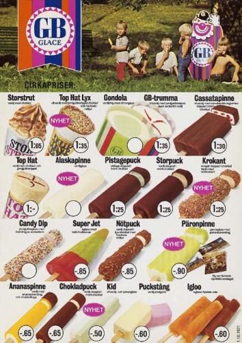 1974 var sista året som vi kunde smaska på Igloo Apelsin