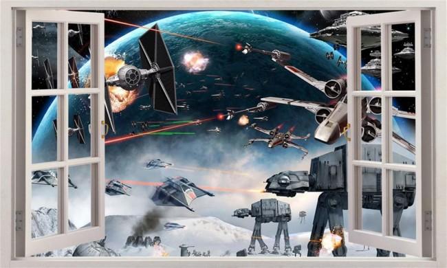 Star Wars tapet barnrum tapet fönster barntapet barnrumstapet fototapet