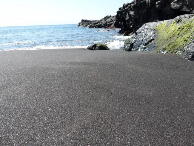 Svart lavastrand Playa de la Arena, Los Gigantes, Teneriffa