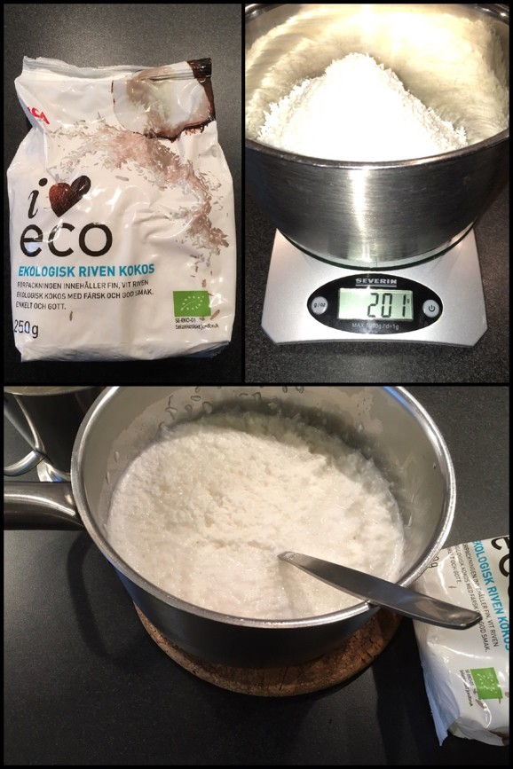 hemmagjord ekologisk kokosmjölk