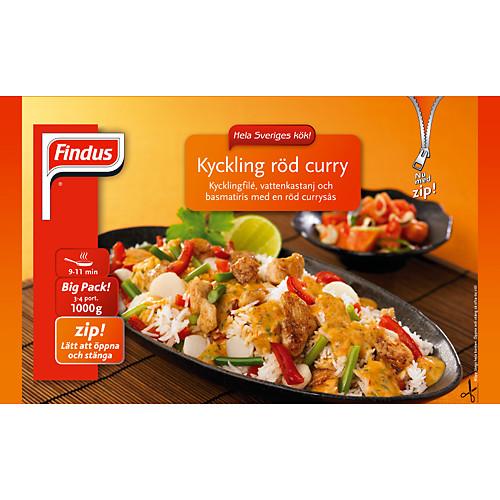 Kyckling röd curry