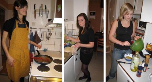 Karin, jag och Åsa