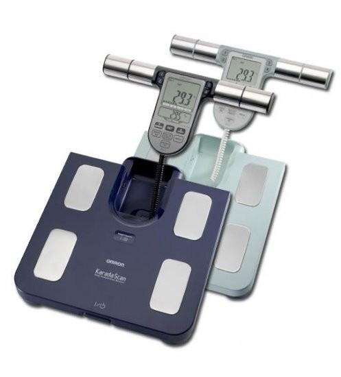 Våg som mäter fett- och muskelprocent