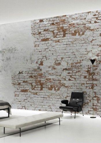 tegelsten vägg sliten tegelsten vit tegelvägg