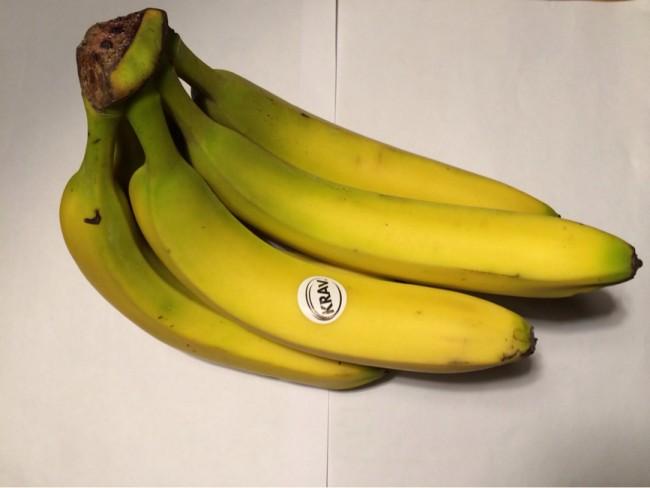 Bananer blir man glad och stark av