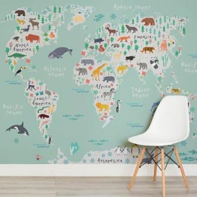 Världskarta tapet fototapet barn världskarta tapet barnrum fondvägg