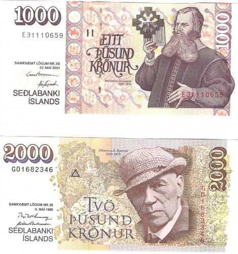 så såg några av sedlarna ut...