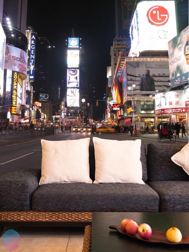 New York tapet Times Square Fototapet Natt Stad