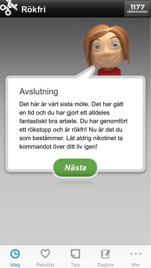 sluta röka coach Petra från Rökfri app 1177
