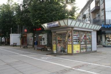 Små kioske som fanns överallt.