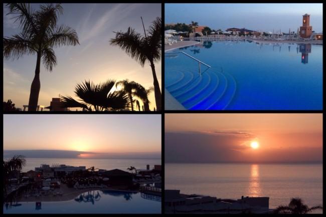 Solnedgång över Atlanten Balkongmys Costa Los Gigantes