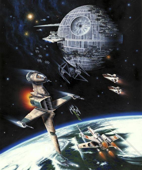 Star Wars tapet fototapet death star space planet fototapet
