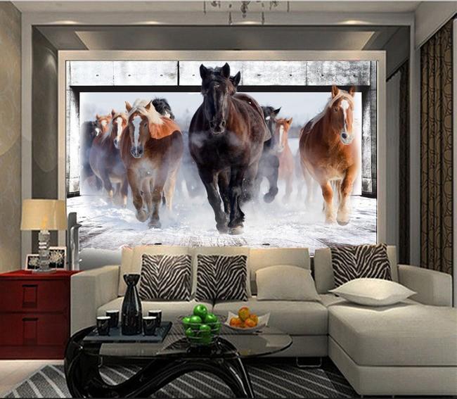 tapet hästar fototapet häst fondvägg