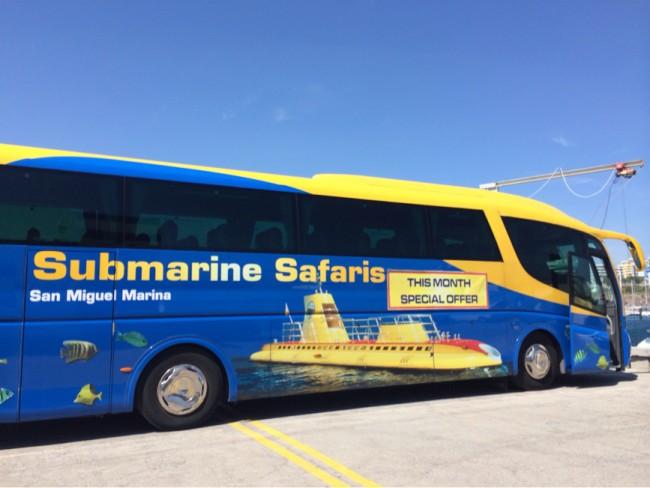 Submarine Safaris Ubåt utflykt buss San Miguel Los Gigantes