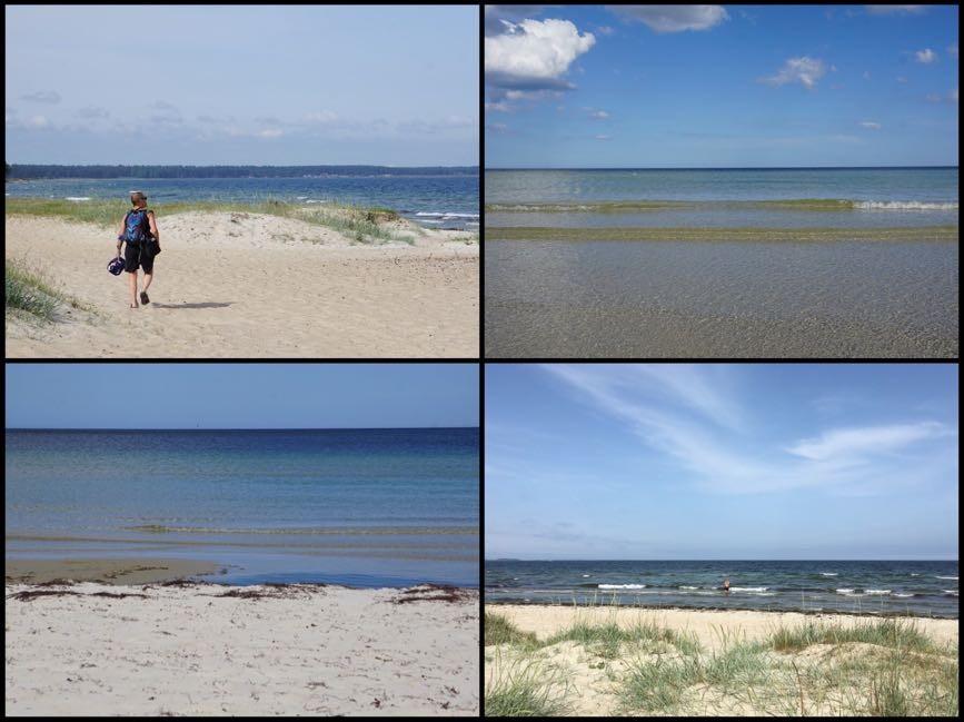 Sol, bad och sand mellan tårna vid Åhus strand