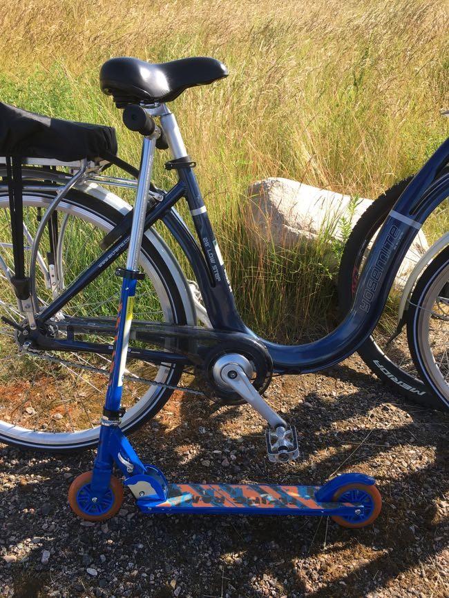 Kickbike och elcykel som hjälpmedel