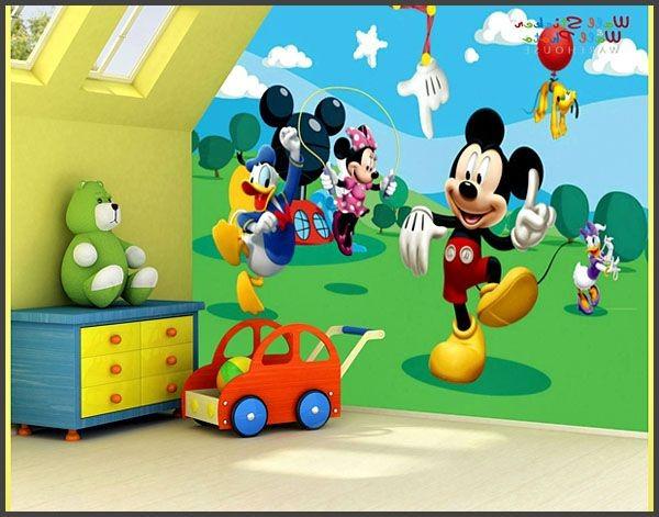 Fototapet barn Disney Musse Pigg Barnrumstapeter Babytapet