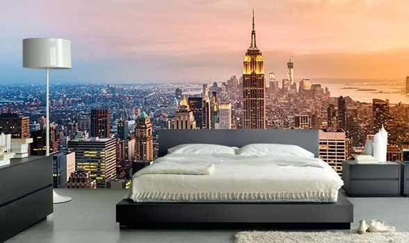 Fototapet New York tapet skyline empire state building sovrum fondvägg