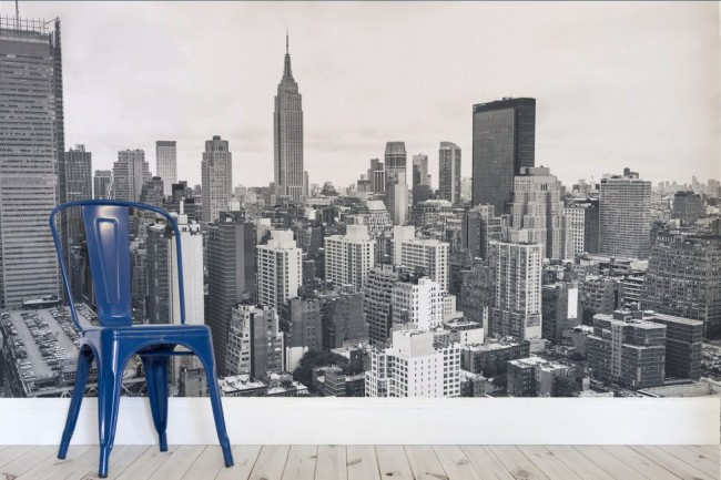 Fototapet New York tapet svart vit fondtapet