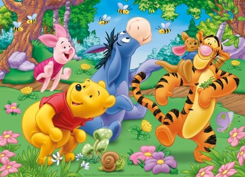 Fototapet Barn Nalle Puh Barnrumstapeter Tapet Barn Disney