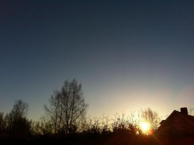 Soluppgång vid morgoncykling =) Cervikal Spinal Stenos