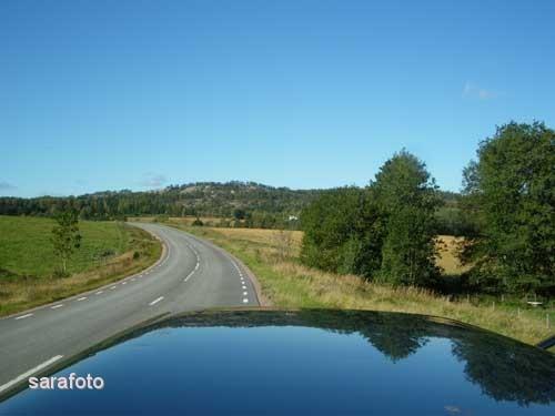 Volvon på väg mot Dals Långed
