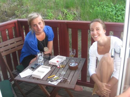 Hanna och Anna på ballis