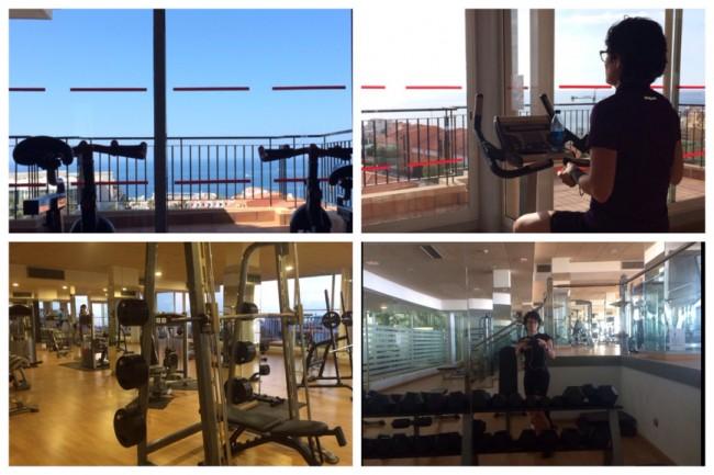 Costa Los Gigantes Gym Utsikt Atlanten Träna