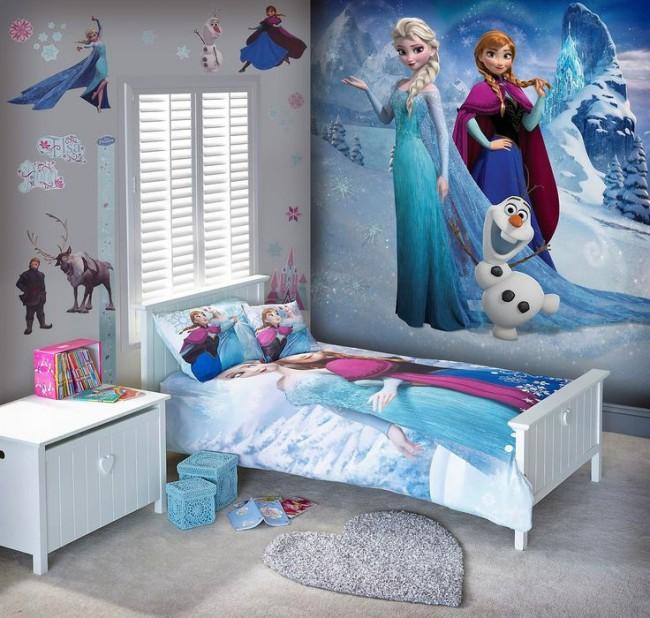 Fototapet barn Disney Frozen Barnrumstapeter Tjejrum Flickrum